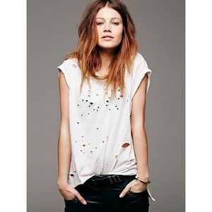 Free people destroyed muscle tee